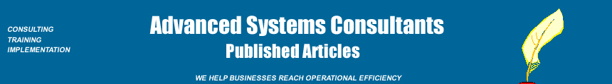 Advanced Systems Consultants articles by Mario Perez-Wilson on Six Sigma