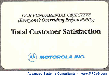 Motorola's Total Customer Satisfaction