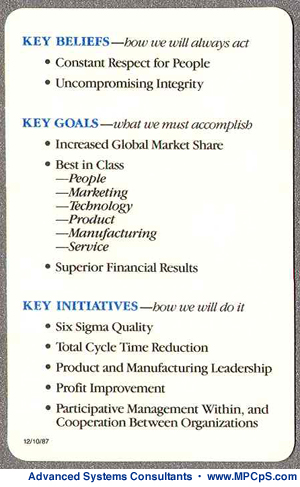 Motorola Key Initiatives